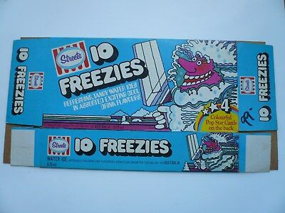 Streets Freezies water-ice box. Early 1980s