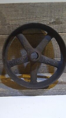 VINTAGE/ANTIQUE INDUSTRIAL CAST IRON Wheel pulley  Sprocket 8inch steam punk