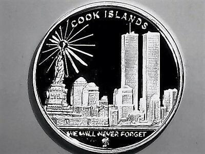 2008 Cook Iland Freedom Tower Proof  1 Dollar Coin Brilliant Uncirculated