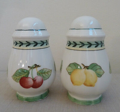 Villeroy and Boch French Garden Fleurence~ SALT AND PEPPER SHAKER SET