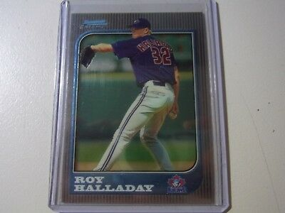 1997 Topps Bowman Chrome Rookie Card Parallel Roy Halladay Blue Jays #212