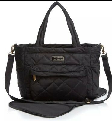 NWT MARC JACOBS XL Quilted Nylon Baby Bag & Changing Pad Tote Black $298.00