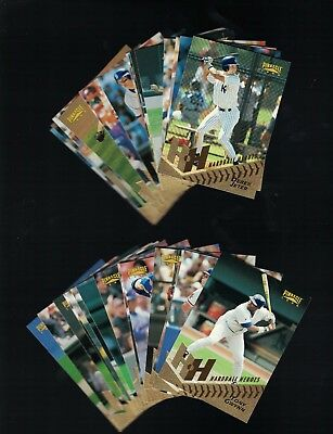 1996 Pinnacle Hardball heroes Complete set...Jeter, Bonds Gwynn, Ripken,Griffey+