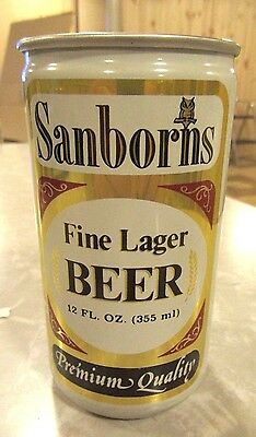 1960's (All Aluminum Can) Sanborns Fine Lager Beer Can Air Sealed Unopem Empty