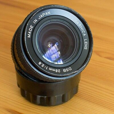 Yashica DSB 28mm 2.8 Wide Angle Prime Lens with C/Y Mount