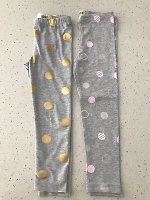 Cotton On Girls Leggings x 2, Size 3