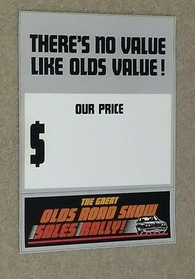 1983 Hurst Olds Road Show Sales Rally Window Price Sheet 442, Cutlass OLDSMOBILE