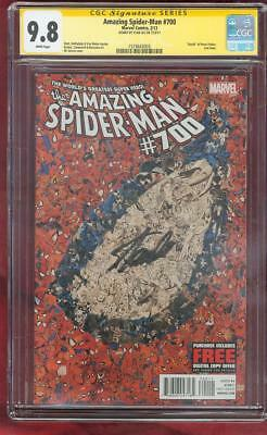 Amazing SPIDER MAN 700 CGC SS 9.8 Stan Lee Sign Death Peter Parker Top 1 Cover