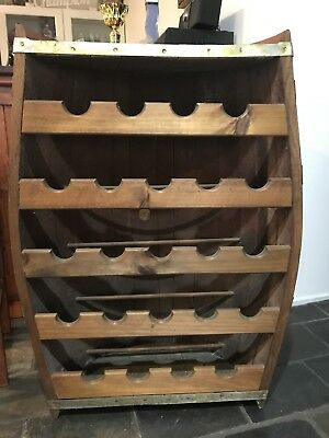 Wine Rack, Half Wine Barrel