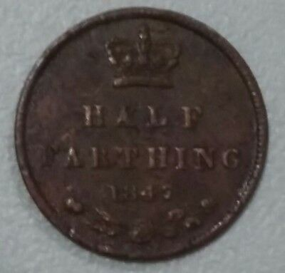 Vintage Queen Victoria  Very Old Coin Of Half Farthing 1847
