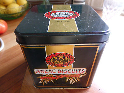 Collectable  small Emu Bottom Homestead Anzac Biscuit Tin ( 200gms ) . + Leaflet