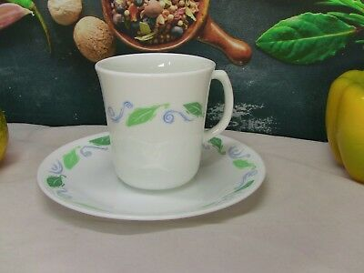 Corelle by Corning - One Mug and Bread & Butter Plate in Spearmint pattern