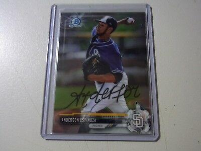 2017 Topps Bowman Chrome Draft On Card autograph Rookie Anderson Espinoza