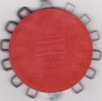 Spark Plug Gap Tool, Champion .015 to .080 inches, 0.4 to 2.0 mm