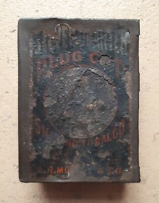 Vintage Tobacco Tin Plug Cut
