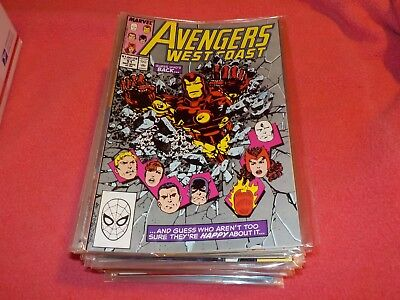 Avengers West Coast 51-102, and Annuals 5-8