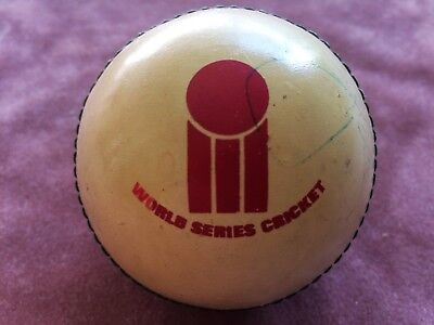 World Series Cricket ball 1977 vintage (Packer WSC) Signed by Dennis Lillee