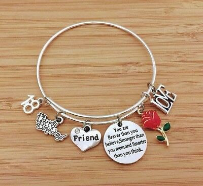 Personalised BIRTHDAY Gifts Bracelet 15th 16th 18th 21st 30th Gift For Her