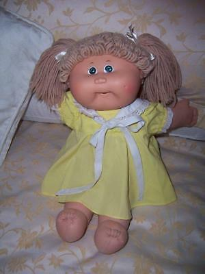 COLECO O.A.A CPK CABBAGE PATCH DOLL c1978 1982 1985 ORIGINAL DRESS GREEN EYES