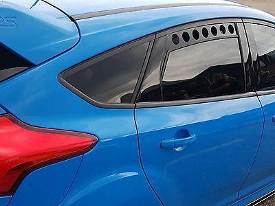 Ford Focus RS Perspex Window Rally Vents Mk3 RS ST Zetec S ST Line etc