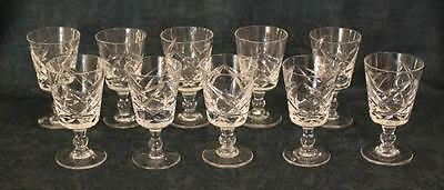 Set of 10 Royal Brierley Cut Glass Sherry / Port Glasses 3 3/4""