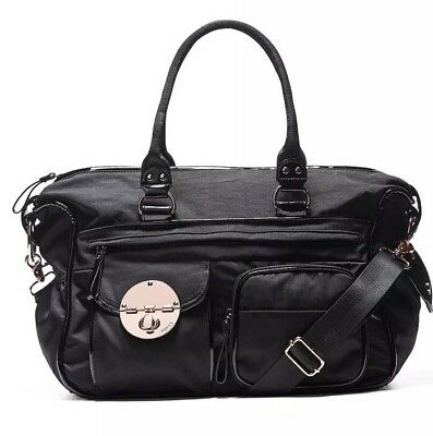 MIMCO Lucid Baby Nappy Bag Black Nylon Large Duffle AUTH Hardly Used