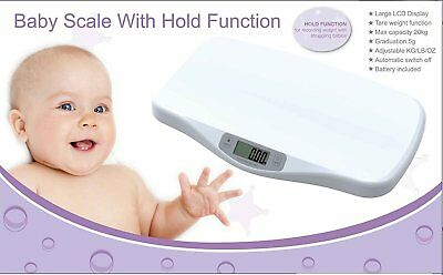 Electronic Digital Infant Baby Scales Pediatric Weight Measuring Monitor Tracker