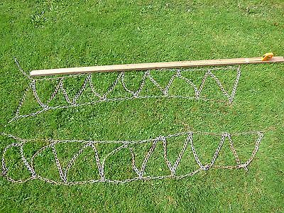 Fence / Barrier Steel Chain - 5 Feet Wide Plus Fixings - In Good Condition.