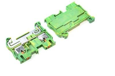 Phoenix Contact Earth Terminal Block, 0.14-4mm2, Push In,green/yellow pack:30