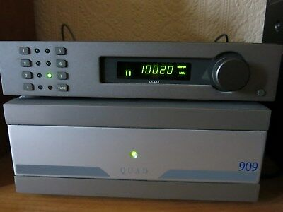 Quad FM4 Tuner  Late Grey buttons version  with  Phono output