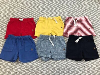 6 Pairs Baby GAP Baby Boys Cotton Shorts 12-18m