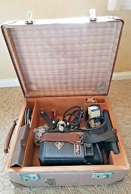 Vintage Working German Agfa MOVECTOR  8 MM Movie Projector Orig. Case And Key