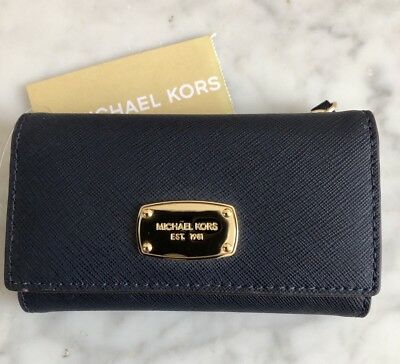 Michael Kors Leather Coin Key Case