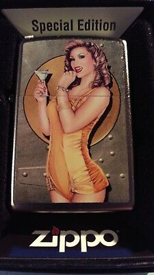 Zippo  Very Rare  Nose Art Pin Up  Girl (Toast Of The Town) Special Edt