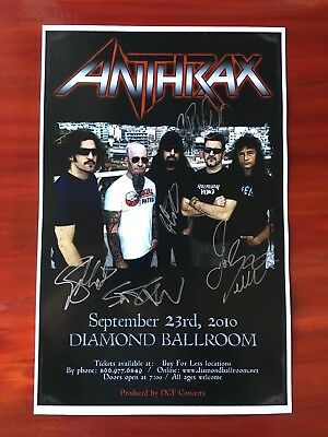 Anthrax ** SIGNED ** Band Concert Poster