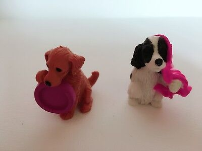 Vintage Puppy In My Pocket UK Colour Variants of 55 Jasper and 31 Tess
