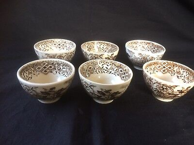 Beautiful set of Antique Turkish Ottoman Faience Pottery Hand Painted Bowls