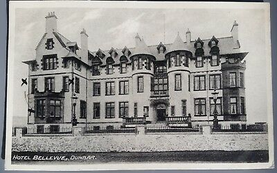 Old Postcard of The Hotel Bellevue, Dunbar - Postally Used