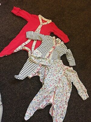 First size next babygrows sleepsuits baby girl