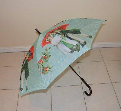 Classic Mint umbrella with cute vintage couple- brandnew perfect for mothers day