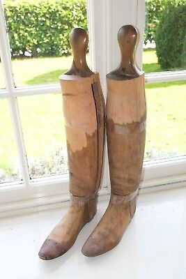 Wooden Beech Trees Lasts Parts Hunting Riding Boots Ladies Uk 5.5 Us 7.5 Eu 38