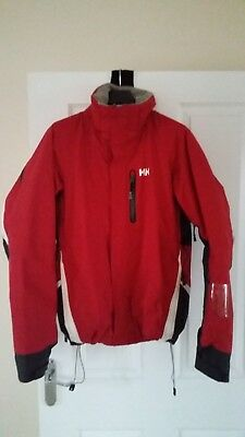 Helly Hansen Men's Ski/Snow Jacket - Red/White - Medium
