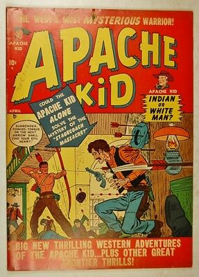 Apache Kid Vol 1 #4 (April 1951, Medalion Pub.) Mystery of Stagecoach Massacre
