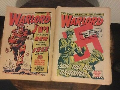 VINTAGE WARLORD COMIC ISSUE NUMBERS 1 TO 97 (SEP 74 to JULY 76) GOOD CONDITION