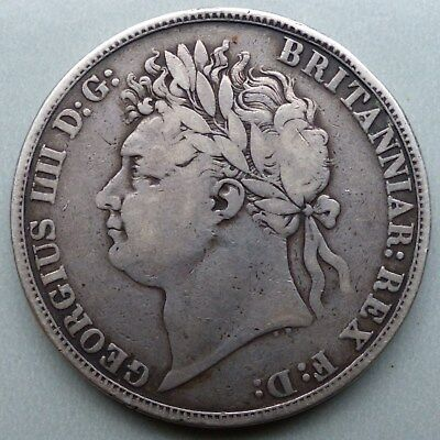 George Iv, 1821 Sterling Silver Crown Coin