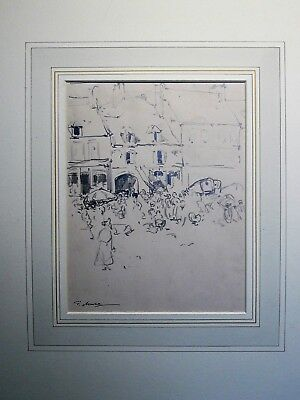 Frank Mura (1861-1913) Signed drawing (link: James Abbott McNeill Whistler)