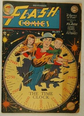 """Flash Comics #101 (Nov 1948, DC) """"A Switch in Time!"""", The Black Canary"""