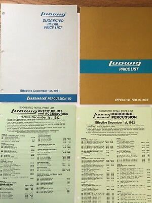 Ludwig Price Lists And Repair Parts Catalogs