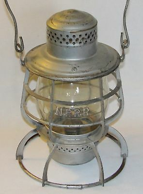 NPRy - Northern Pacific Railway 1889 Armspear Lantern with Clear Cast NPRR Globe