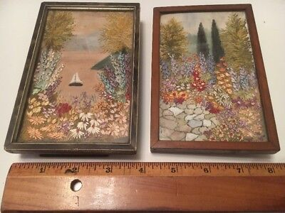 Antique Embroidery Gardens X 2